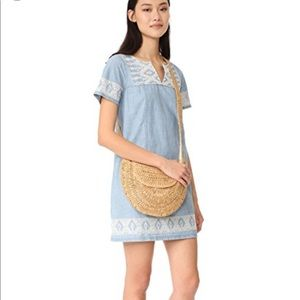 Madewell Embroidered Chambray Dress